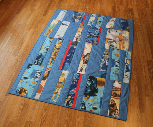 Another Finished Star Wars Quilt Finger Thumb
